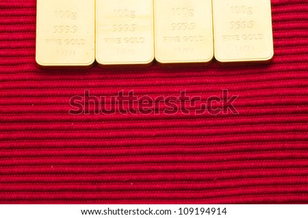 Gold bars with the background. - stock photo