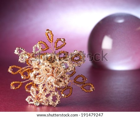 Gold beaded ornament