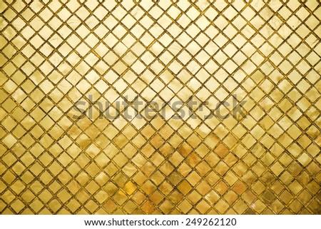 Gold block background - stock photo