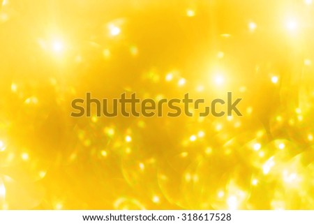 Gold blurred glitter shiny background - stock photo