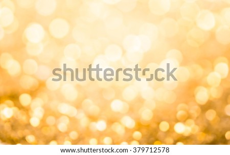 Gold bokeh , abstract background