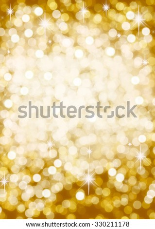 Gold Bokeh and Spangles  Abstract Background - stock photo