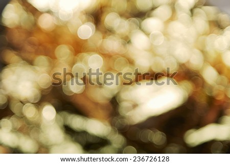 Gold bokeh background - stock photo