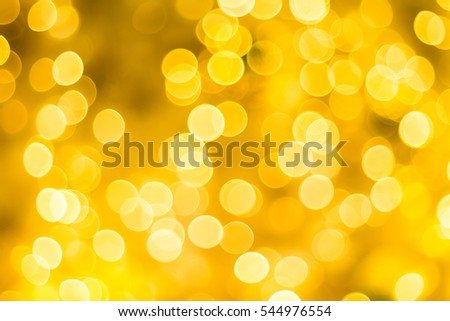Gold bokeh Christmas new year abstract blur background