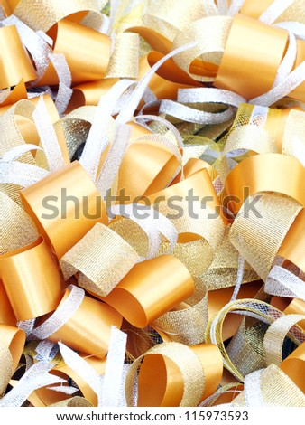 gold bow ribbon