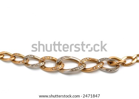Gold bracelet details in the white, luxury concept