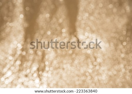 Gold, bronze and white lights abstract background - stock photo