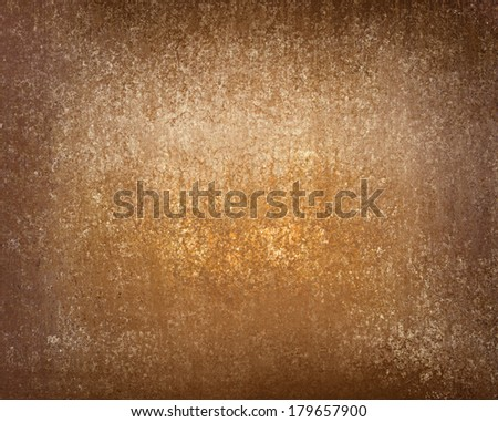 Gold Brown Background Color Tones With Distressed Vintage Grunge Texture And Black Vignette Border
