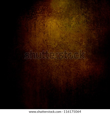 gold brown background paper with vintage grunge background texture with black vignette edges and old faded antique gold design for ad brochure or web template, abstract Christmas background gold wrap - stock photo
