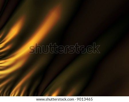 Gold brown flame abstract background - stock photo