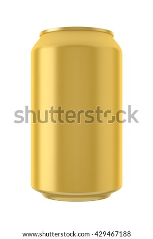 Gold can 3D illustration