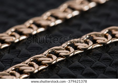 gold chain - stock photo