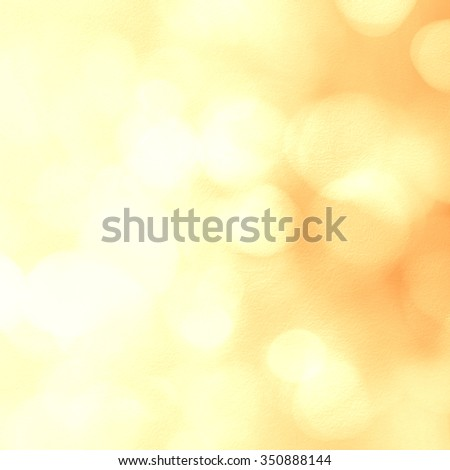Gold Christmas background. Festive xmas abstract background with bokeh defocused lights and stars - stock photo