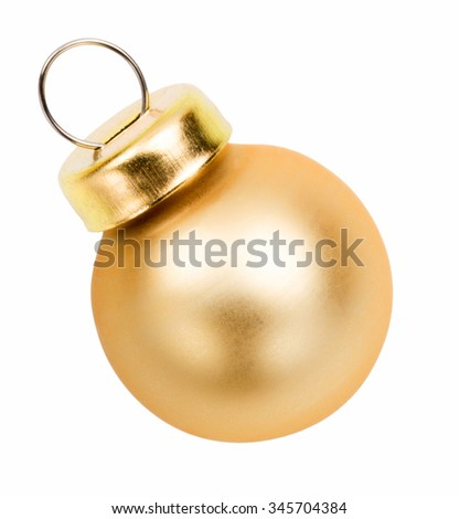 Gold christmas baubles and ornaments