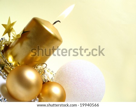Gold Christmas still life