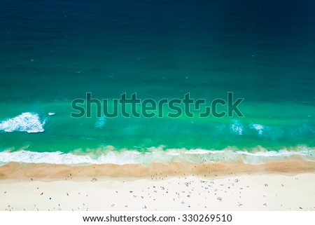 Gold Coast Surfers Paradise The Beach, view from Q1, Australia - stock photo