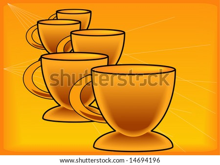 Gold Coffee Cup Background