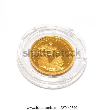 Gold coin of Ukraine. two hryvnia