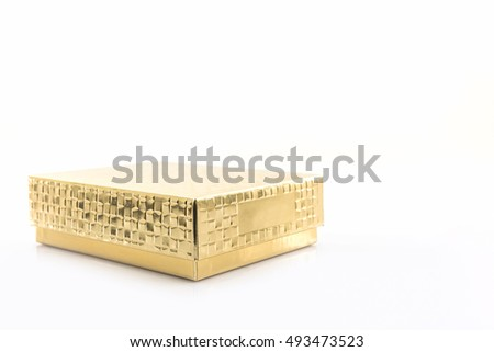 Gold color box on white background.
