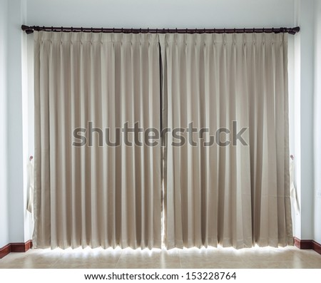 gold color curtain - stock photo
