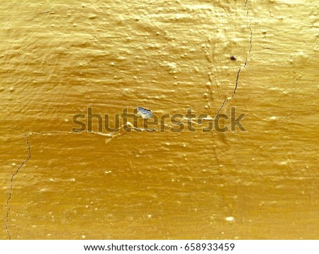 Gold Color Paint Cement Wall Stock Photo (Royalty Free) 658933459 ...