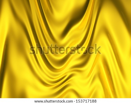 Gold color silk background 3d illustration - stock photo