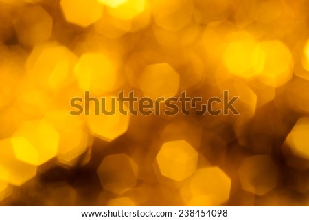 Gold colored bokeh lights
