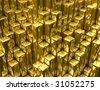 gold columns - stock vector