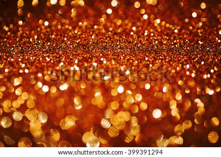gold copper glitter bokeh texture abstract background