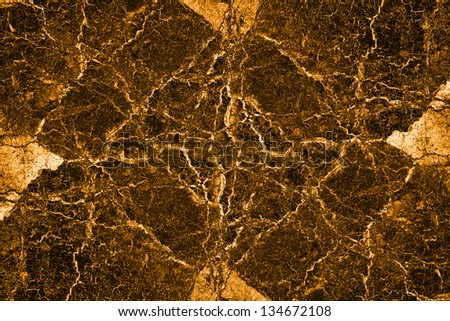 Gold cracked wall background texture