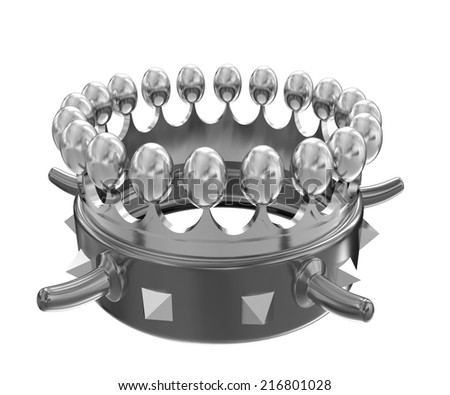 Gold crown isolated on white background  - stock photo