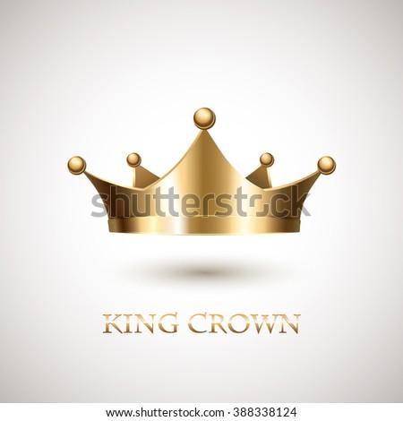 Gold Crown. Royal gold crown. Monarch gold crown. Golden crown. Gold crown icon. Grown gold. Gold crown symbol. Royal crown. Gold metal crown - stock photo