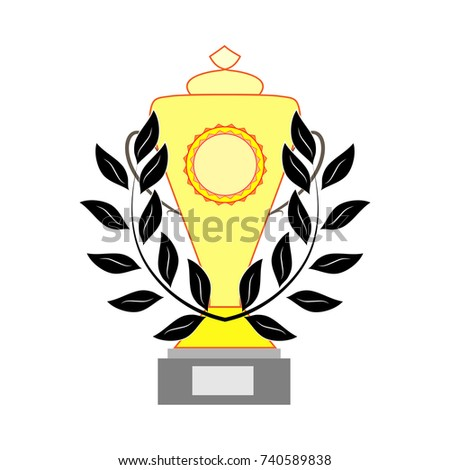 Cup Reward Isolated Modern Symbol Victory Stock Illustration ...