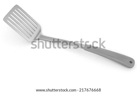 gold cutlery on white background  - stock photo