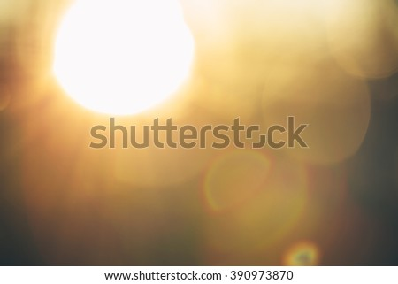Gold desert in sunset, abstract bright blur background for web design, brown colorful background, blurred. shallow DOF - stock photo