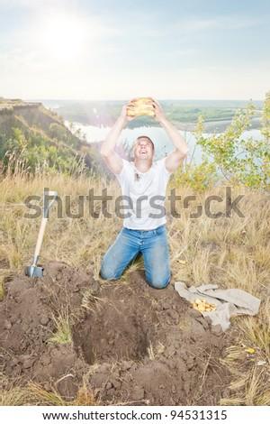 Gold digger - stock photo