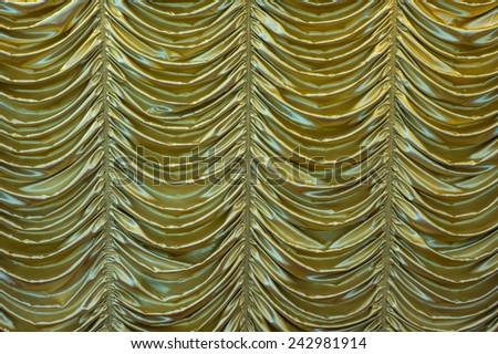 Gold drape - stock photo