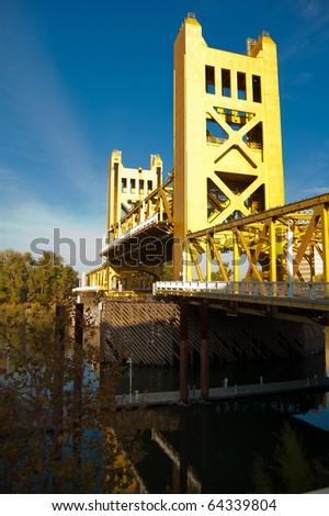 Gold Draw Bridge - stock photo