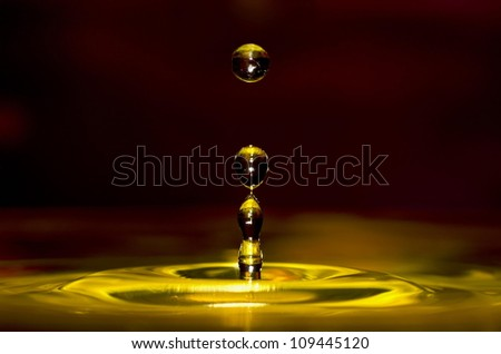 Gold drops - stock photo
