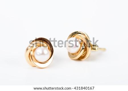 Pearl Earrings Stock Royalty Free & Vectors