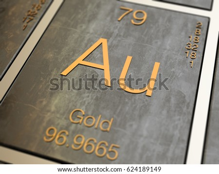 Gold element symbol periodic table 3d stock illustration 624189149 gold element symbol from periodic table 3d rendered with depth of field urtaz Gallery