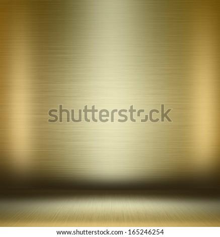 gold empty room - stock photo