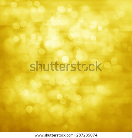 Gold Festive Christmas background. Elegant abstract background with bokeh defocused lights  - stock photo