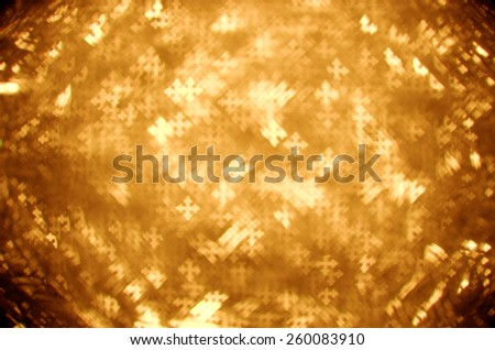 gold fleur-de-lis cross bokeh background - stock photo