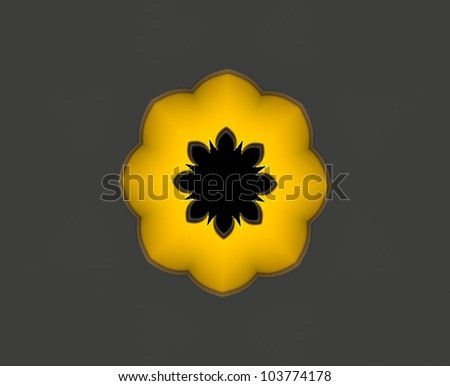 Gold Flower - stock photo