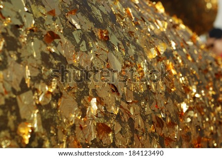 gold foil - stock photo