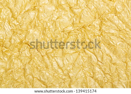 Gold foil background texture - stock photo