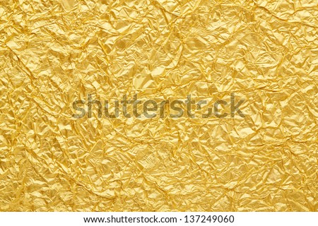 Gold foil seamless background texture - stock photo