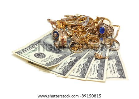 gold for cash - stock photo