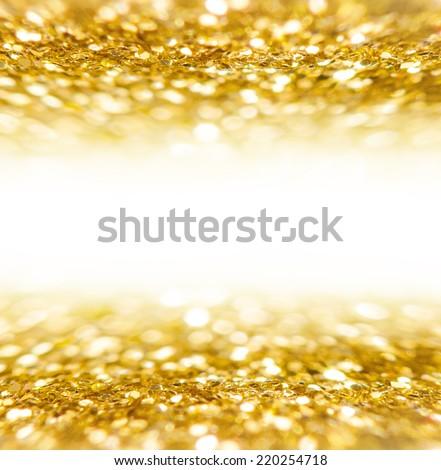 gold glitter background - stock photo